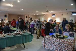 Lots of shoppers at Fall into Christmas 2015